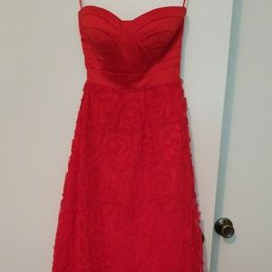 Hailey Logan red dress